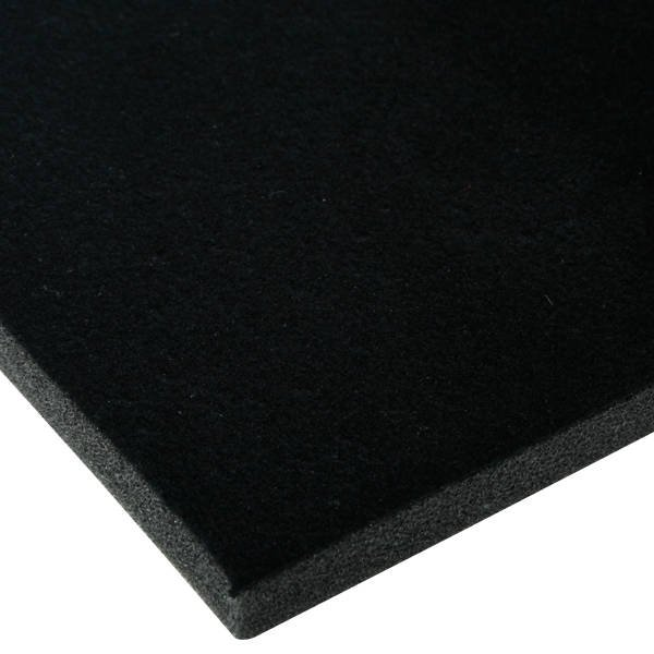 Foam covered with velour, 10 mm thick