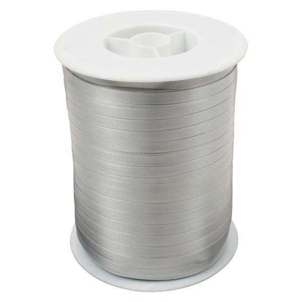 Wstążka - plain wąska Kolor srebrny  5 mm x 500 m