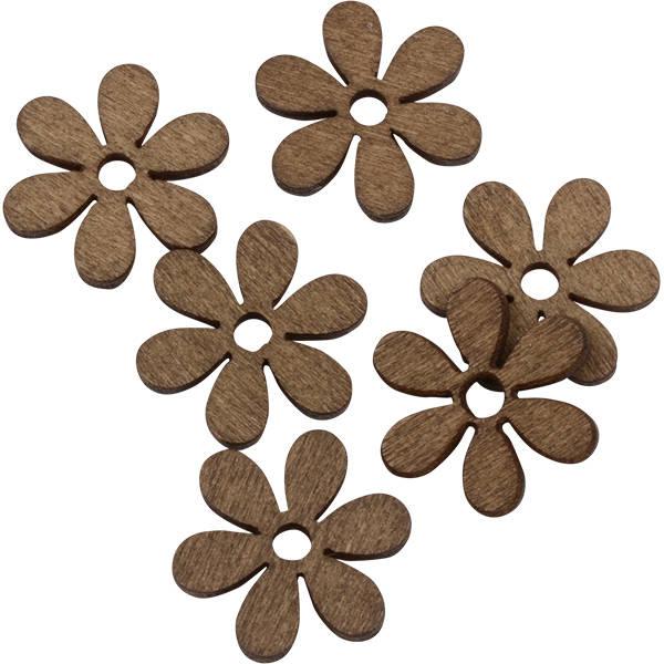 Blommor i trä, 150 st