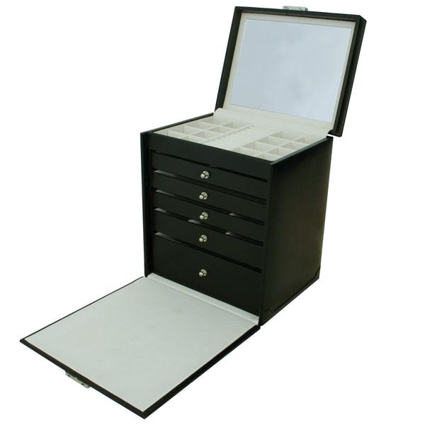 Coffret bijoux moderne n°814  avec 5 tiroirs