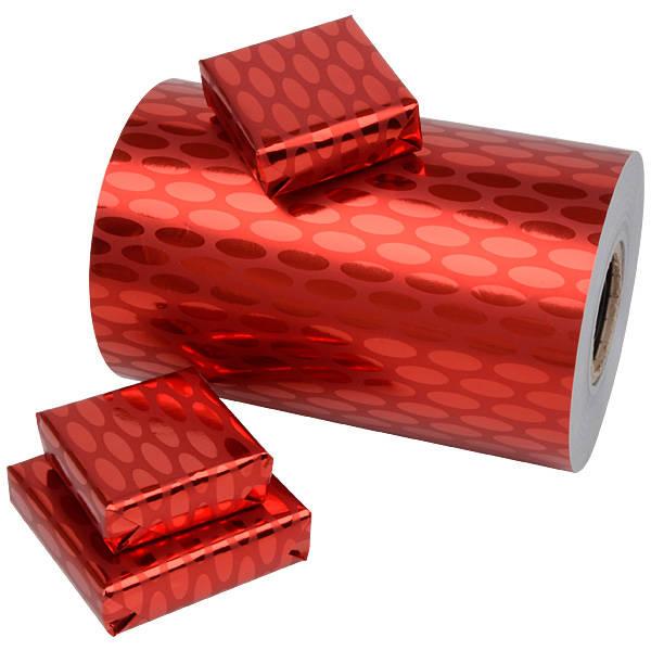 Papier cadeau nº 3801  - Metallic Rouge