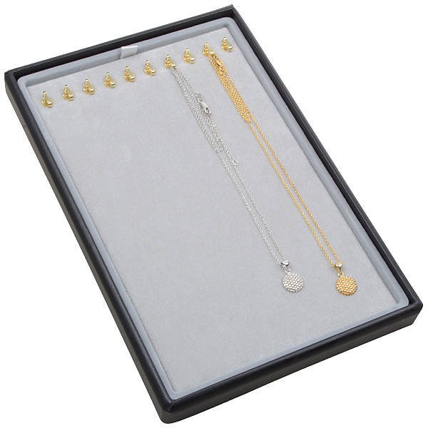 Small tray for 10x necklace, on hooks
