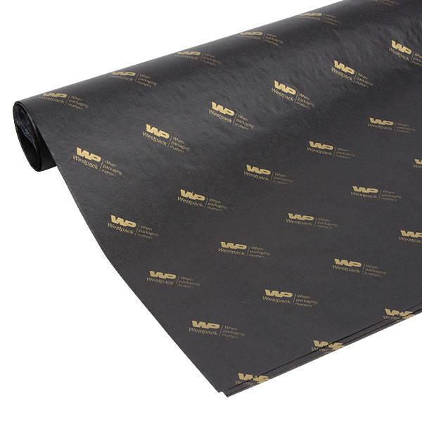 Silkespapper med tryck, store ark