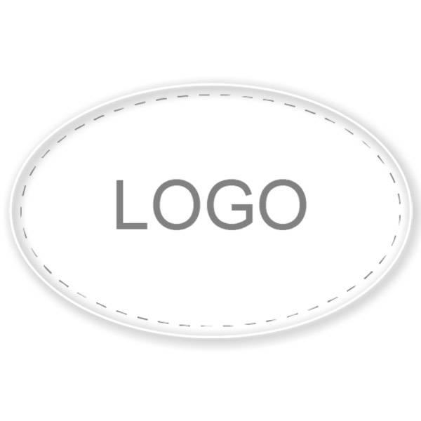Etiquettes cadeau adhésive 040 - Ovale