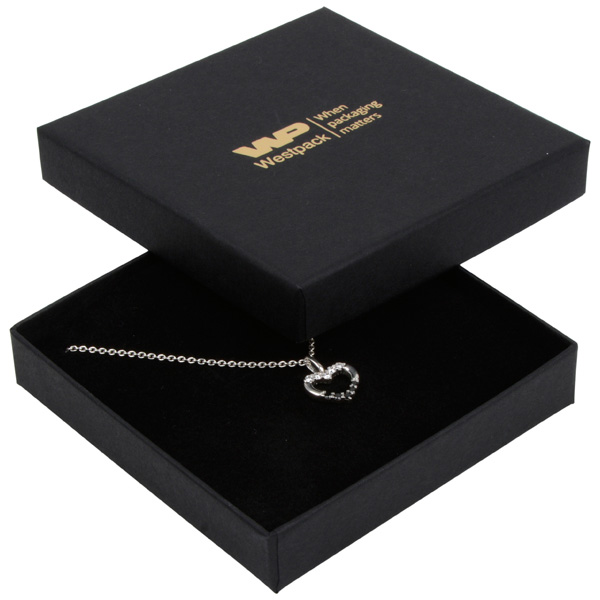 Achat en gros: Frankfurt écrin bracelet/ pendentif Carton noir / Intérieur mousse noire 86 x 86 x 17 (82 x 82 x 7 mm)