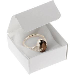 Plano 1000 Faltschachtel für Ring Semi-glänzender weißer Karton 40 x 40 x 20