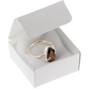 Plano 1000 Flatpack Box for Ring White cardboard, satin gloss 40 x 40 x 20