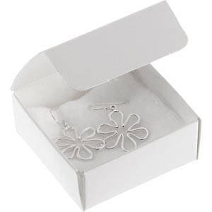 Plano 1000 Faltschachtel für Ohrringe/Anhänger Semi-glänzender weißer Karton 60 x 60 x 25