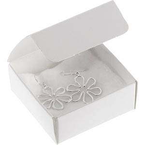 Plano 1000 ECO Small Flat-pack Gift Box, 60 mm White cardboard, satin gloss 60 x 60 x 25
