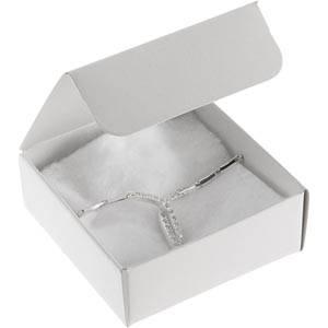 Plano 1000 Faltschachtel für Halskette Semi-glänzender weißer Karton 80 x 80 x 30