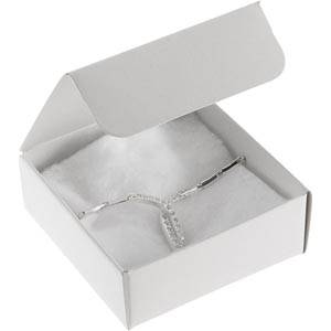 Plano 1000 ECO Small Flat-pack Gift Box, 80 mm White cardboard, satin gloss 80 x 80 x 30