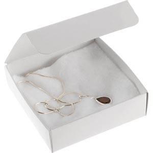Plano 1000 Faltschachtel für Halskette/Armreif Semi-glänzender weißer Karton 100 x 100 x 30