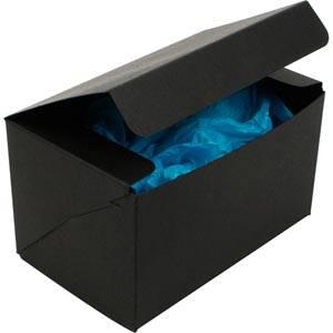 Plano 1000 vouwbaar cadeaudoosje, 160 mm Mat zwart karton 160 x 100 x 95