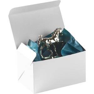 Plano 1000 Large Flat-packed Gift Box, 160 mm White cardboard, satin gloss 160 x 100 x 95