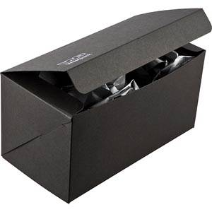 Plano 1000 vouwbaar cadeaudoosje, 230 mm Mat zwart karton 230 x 120 x 120