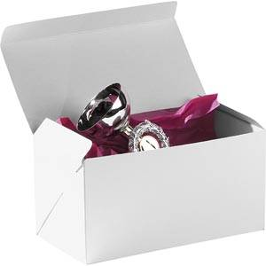 Plano 1000 Large Flat-packed Gift Box, 230 mm White cardboard, satin gloss 230 x 120 x 120