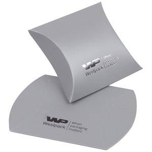 Plano Fix Flat-packed Pillow Gift Box, extra small Matt Silver Cardboard 40 x 54 x 21