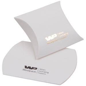 Plano Fix Flat-packed Pillow Gift Box, extra small Matt White Cardboard 40 x 54 x 21