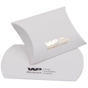 Plano Fix Flat-packed Pillow Gift Box, Small Matt White Cardboard 70 x 71 x 22