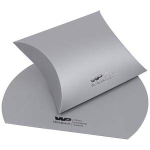 Plano Fix Flat-packed Pillow Gift Box, Large Matt Silver Cardboard 100 x 110 x 40