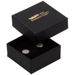 Boston doosje voor oorsieraden / bedeltje Zwart karton/ Zwart foam 50 x 50 x 22 (44 x 44 x 20 mm)