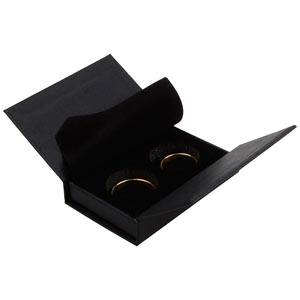 Boston sieradendoosje voor trouwringen Zwart karton/ Zwart foam 75 x 51 x 19 (70 x 45 x 10 mm)