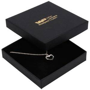 Frankfurt Jewellery Box for Bangle / Pendant Matt Black Cardboard / Black Foam 86 x 86 x 17 (82 x 82 x 7 mm)