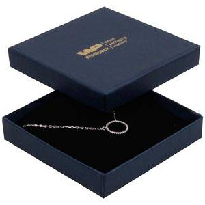 Frankfurt Jewellery Box for Bangle / Pendant Dark Blue Linen-look Cardboard/ Black Foam 86 x 86 x 17 (82 x 82 x 7 mm)
