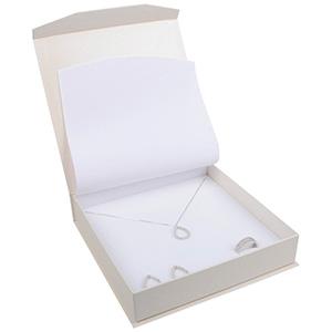 Milano smyckesask till Collier Pearl Vit kartong/Vit skuminsats 165 x 165 x 35 (159 x 159 x 24 mm)