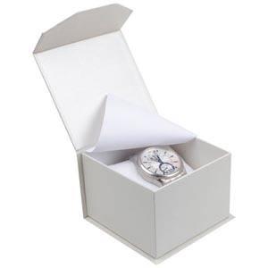 Milano Doosje voor Horloge Pearl Wit Karton/ Wit Interieur 100 x 100 x 70 (91 x 91 x 64 mm)