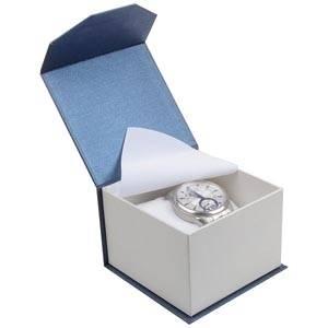 Milano Doosje voor Horloge Pearl Blauw - Wit Karton/ Wit Interieur 100 x 100 x 70 (91 x 91 x 64 mm)