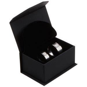 Milano smyckesask till Förlovning Matt svart konstskinn/Svart skuminsats 67 x 46 x 35 (60 x 40 x 30 mm)