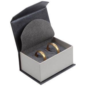 Milano smyckesask till  Förlovning Pearl Antracit- Silver kartong/Grå skuminsats 67 x 46 x 35 (60 x 40 x 30 mm)