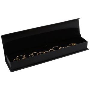 Milano smyckesask till Armband Matt svart konstskinn/Svart skuminsats 227 x 50 x 26 (219 x 41 x 17 mm)