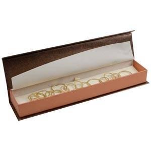 Milano smyckesask till Armband Pearl Bronze- Koppar kartong/Creme skuminsats 227 x 50 x 26 (219 x 41 x 17 mm)