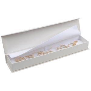 Milano smyckesask till Armband Pearl Vit kartong/Vit skuminsats 227 x 50 x 26 (219 x 41 x 17 mm)