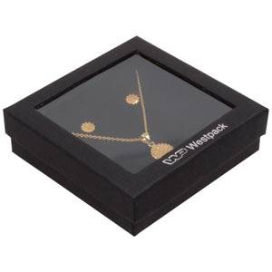 Boston Open opakowania na komplety, duże Czarny karton/ czarna gąbka  86 x 86 x 26 (82 x 82 x 15 mm)