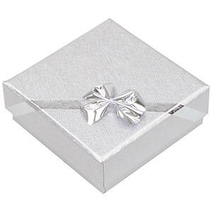 Las Vegas æske til halskæde med vedhæng Sølv karton / Hvid skumindsats 60 x 60 x 22 (56 x 56 x 12 mm)