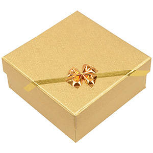 Las Vegas smyckesask till Halskedja/Armband Guld Kartong/Vit Skuminsats 85 x 85 x 35 (82 x 82 x 23 mm)