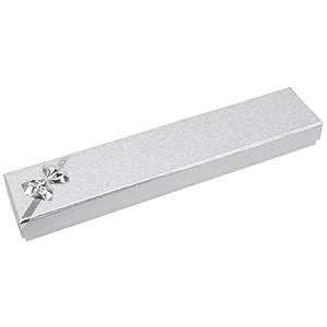 Las Vegas Box for Bracelet Silver Cardboard/ White Interior 220 x 45 x 23 (114 x 40 x 10 mm)