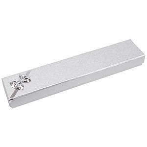 Las Vegas Doosje voor Armband, langwerpig Zilver Karton/ Wit Foam Interieur 220 x 45 x 23 (114 x 40 x 10 mm)