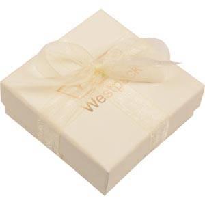 Barcelona Schachtel für Halskette mit Anhänger Cremefarbener Karton / Samt Weißer Einsatz 65 x 65 x 25 (61 x 61 x 15 mm)