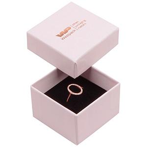 Santiago Jewellery Box for Ring Rose-coloured Cardboard / Black Foam 50 x 50 x 32 (44 x 44 x 30 mm)
