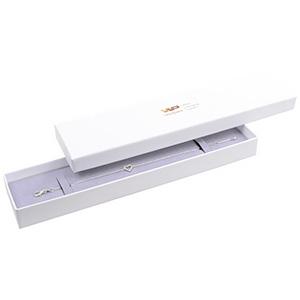Santiago sieradendoosje voor armband Wit karton/ Grijs foam 225 x 50 x 22 (217 x 44 x 17 mm)
