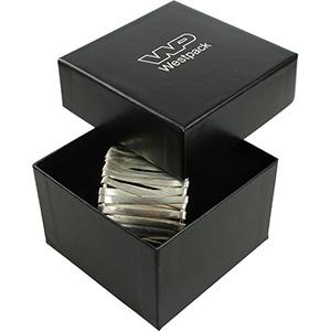 Santiago sieradendoosje horloge / slavenarmband Zwart karton/ Zwart foam 90 x 90 x 57 (86 x 86 x 56 mm)