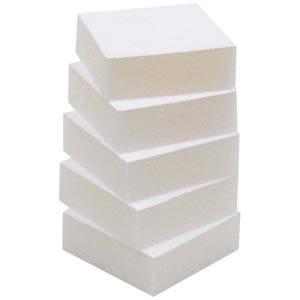 Wkładki z gąbki do opakowania na pierścionki Białe  44 x 44 x 15 0 027 000 / 0 018 000