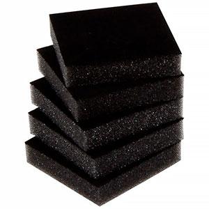 Mousse intérieure d'écrins pour boucles d'oreilles Noir 44 x 44 x 10 0 027 001 / 0 018 001