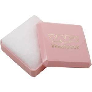 Rio Jewellery Box for Baby Jewellery Glossy Light Pink / White Wadding 60 x 60 x 21 (57 x 57 x 9 mm)
