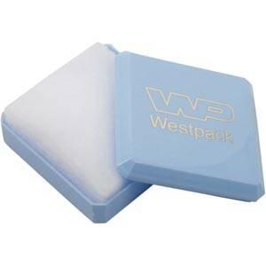 Rio Jewellery Box for Baby Jewellery Glossy Light Blue/White Wadding 60 x 60 x 21 (57 x 57 x 9 mm)