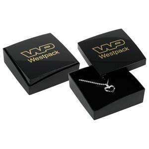 Copenhagen écrin pour BO pendantes/petit pendentif Couvercle noir, base noire / Mousse noire 60 x 60 x 21 (59 x 59 x 17 mm)